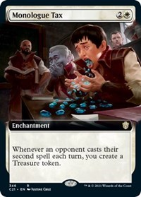 Monologue Tax (Extended Art), Magic: The Gathering, Commander 2021