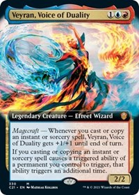 Veyran, Voice of Duality (Extended Art), Magic: The Gathering, Commander 2021