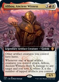 Alibou, Ancient Witness (Extended Art), Magic: The Gathering, Commander 2021