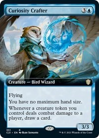 Curiosity Crafter (Extended Art), Magic: The Gathering, Commander 2021