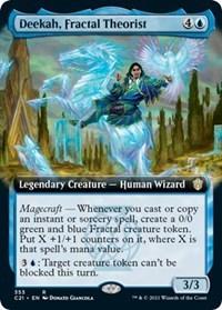 Deekah, Fractal Theorist (Extended Art), Magic: The Gathering, Commander 2021