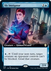 Sly Instigator (Extended Art), Magic: The Gathering, Commander 2021