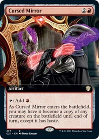 Cursed Mirror (Extended Art), Magic: The Gathering, Commander 2021