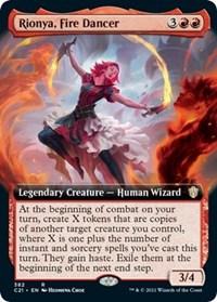 Rionya, Fire Dancer (Extended Art), Magic: The Gathering, Commander 2021