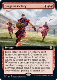Surge to Victory (Extended Art), Magic: The Gathering, Commander 2021