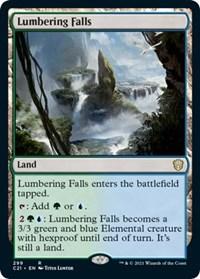 Lumbering Falls, Magic: The Gathering, Commander 2021
