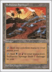 Sulfurous Springs, Magic: The Gathering, Fifth Edition