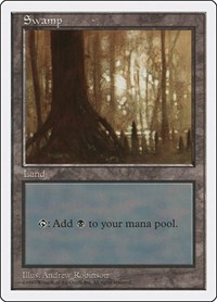 Swamp (441), Magic: The Gathering, Fifth Edition