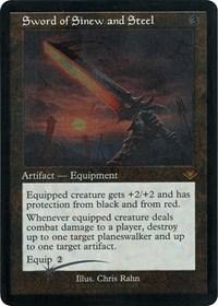 Sword of Sinew and Steel (Retro Frame) (Foil Etched) (Foil)