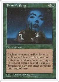 Titania's Song, Magic: The Gathering, Fifth Edition
