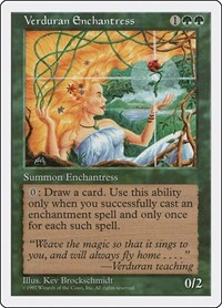 Verduran Enchantress, Magic: The Gathering, Fifth Edition