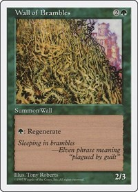 Wall of Brambles, Magic: The Gathering, Fifth Edition