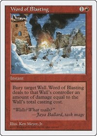 Word of Blasting, Magic: The Gathering, Fifth Edition