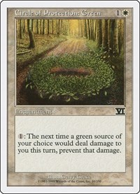Circle of Protection: Green, Magic: The Gathering, Classic Sixth Edition