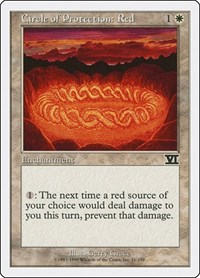 Circle of Protection: Red, Magic: The Gathering, Classic Sixth Edition