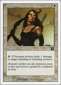 D'Avenant Archer, Magic: The Gathering, Classic Sixth Edition