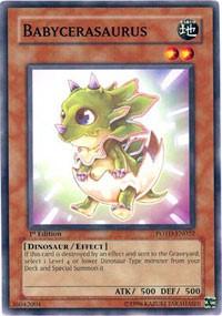 Babycerasaurus, YuGiOh, Power of the Duelist