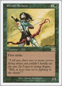 Elvish Archers, Magic, Classic Sixth Edition