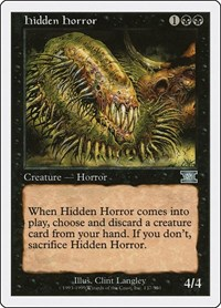 Hidden Horror, Magic: The Gathering, Classic Sixth Edition