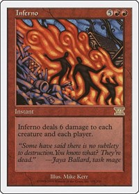 Inferno, Magic: The Gathering, Classic Sixth Edition