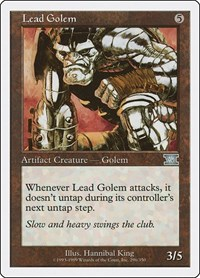 Lead Golem, Magic: The Gathering, Classic Sixth Edition