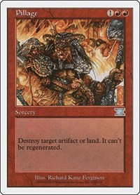 Pillage, Magic: The Gathering, Classic Sixth Edition