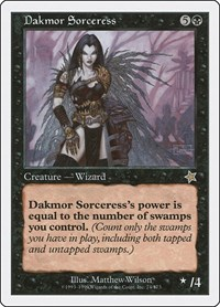 Dakmor Sorceress, Magic: The Gathering, Starter 1999