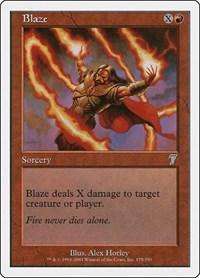 Blaze, Magic: The Gathering, 7th Edition