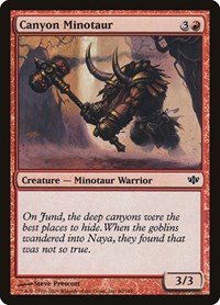 Canyon Minotaur, Magic, Conflux