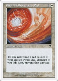 Circle of Protection: Red, Magic: The Gathering, 7th Edition