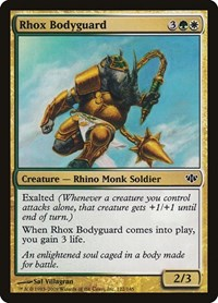 Rhox Bodyguard, Magic: The Gathering, Conflux
