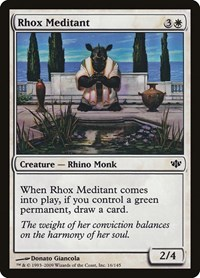 Rhox Meditant, Magic: The Gathering, Conflux