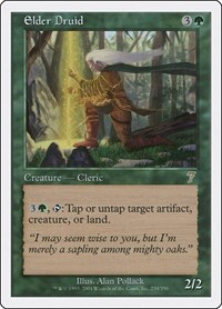 Elder Druid, Magic: The Gathering, 7th Edition