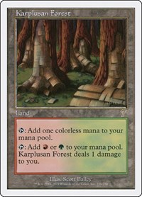 Karplusan Forest, Magic: The Gathering, 7th Edition