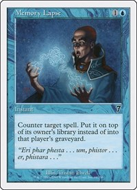Memory Lapse, Magic: The Gathering, 7th Edition