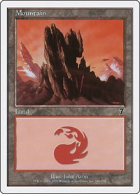Mountain (340), Magic: The Gathering, 7th Edition