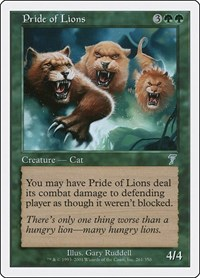 Pride of Lions, Magic: The Gathering, 7th Edition