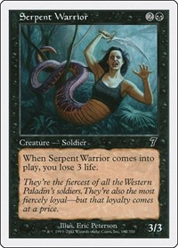 Serpent Warrior, Magic: The Gathering, 7th Edition