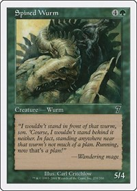 Spined Wurm, Magic: The Gathering, 7th Edition