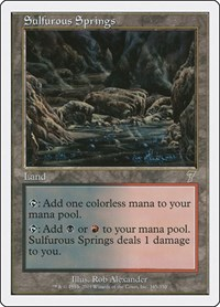 Sulfurous Springs, Magic: The Gathering, 7th Edition