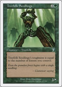 Treefolk Seedlings, Magic: The Gathering, 7th Edition