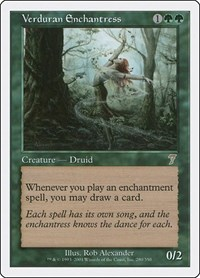 Verduran Enchantress, Magic: The Gathering, 7th Edition