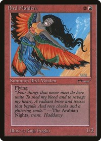 Bird Maiden, Magic: The Gathering, Arabian Nights