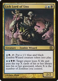 Lich Lord of Unx, Magic: The Gathering, Alara Reborn