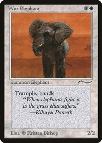 War Elephant, Magic: The Gathering, Arabian Nights