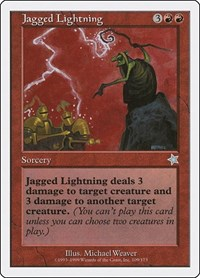 Jagged Lightning, Magic: The Gathering, Starter 1999