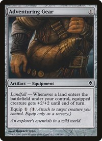 Adventuring Gear, Magic: The Gathering, Zendikar