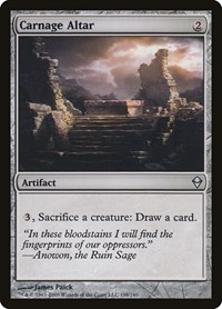 Carnage Altar, Magic: The Gathering, Zendikar