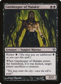 Gatekeeper of Malakir, Magic: The Gathering, Zendikar