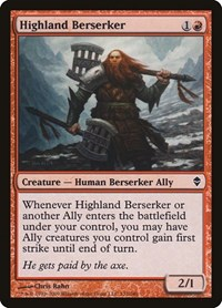 Highland Berserker, Magic, Zendikar